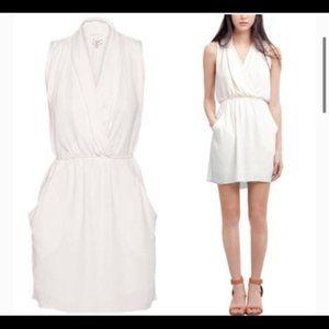 Aritzia Wilfred SABRINE Ivory Dress XS Pockets